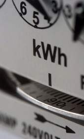 Partial image of electricity meter dials