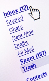 Partial image of an email program